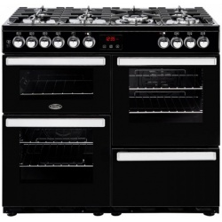 BELLING COOKCENTRE 100CM DUAL FUEL RANGE COOKER 100DFTBLK