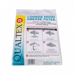 Qualtex FIL132 Universal Cooker Hood Grease Filters, 2 Pack