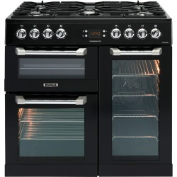 Leisure CS90F530K Cuisinemaster 90cm Dual Fuel Range Cooker in Black