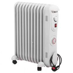 Prem-I-Air 2.5 kW 11 Fin Oil Filled Radiator with 24 Hour Timer