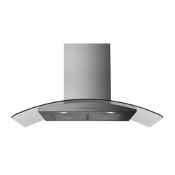 Belling CHIM904GSTA 90cm Curved Glass Chimney Hood