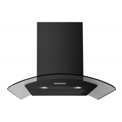 Belling CHIM604GBLK 60cm Curved Glass Chimney Hood