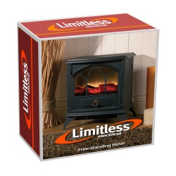 Limitless Electrical HEAT1B Black Free-standing Stove Heater
