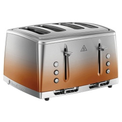 Russell Hobbs 25143 Eclipse 2400W 4 Slice Toaster - Copper Sunset