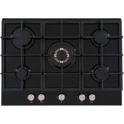 Cata UBGOG70BK 70cm 5 Burner Gas On Glass Hob