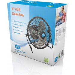 "Prem-I-Air EH1692 6"" USB Desk Fan"