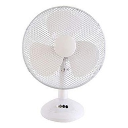 Prem-I-Air EH1798 Oscillating Desktop Fan with 3 Speed Settings - White