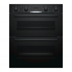 Bosch NBS533BB0B Electric Built-under Double Oven - Black