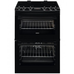 Zanussi ZCV66250BA 60cm Double Oven Electric Cooker With Ceramic Hob - Black