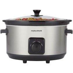 Morphy Richards 461013 Brushed Stainless Steel 6.5L Ceramic Slow Cooker