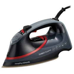 Morphy Richards Turbosteam Pro 3100W Electronic Steam Iron Black & Red 303125