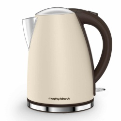 Morphy Richards 102781 Stainless Steel Jug Kettle Rapid Boil 3000 W 1.7 liters Cream