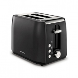 MORPHY RICHARDS 222058 EQUIP STAINLESS STEEL 2 SLICE TOASTER BLACK