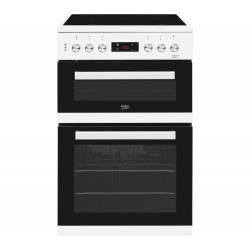 Beko Freestanding 60cm Double Oven Electric Cooker KDC653W White