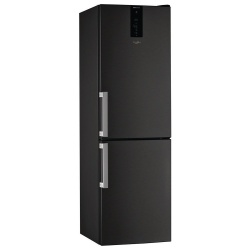 Whirlpool Frost Free Freestanding Fridge Freezer Black W9821DKSH
