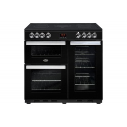 Belling Cookcentre 90cm Induction Range Cooker Black 90EIBLK