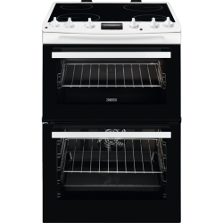 ZANUSSI ZCV66250WA 60 cm Electric Cooker Black & White